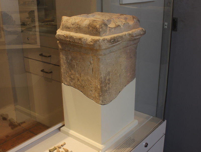 A stone altar excavated at Silchester.