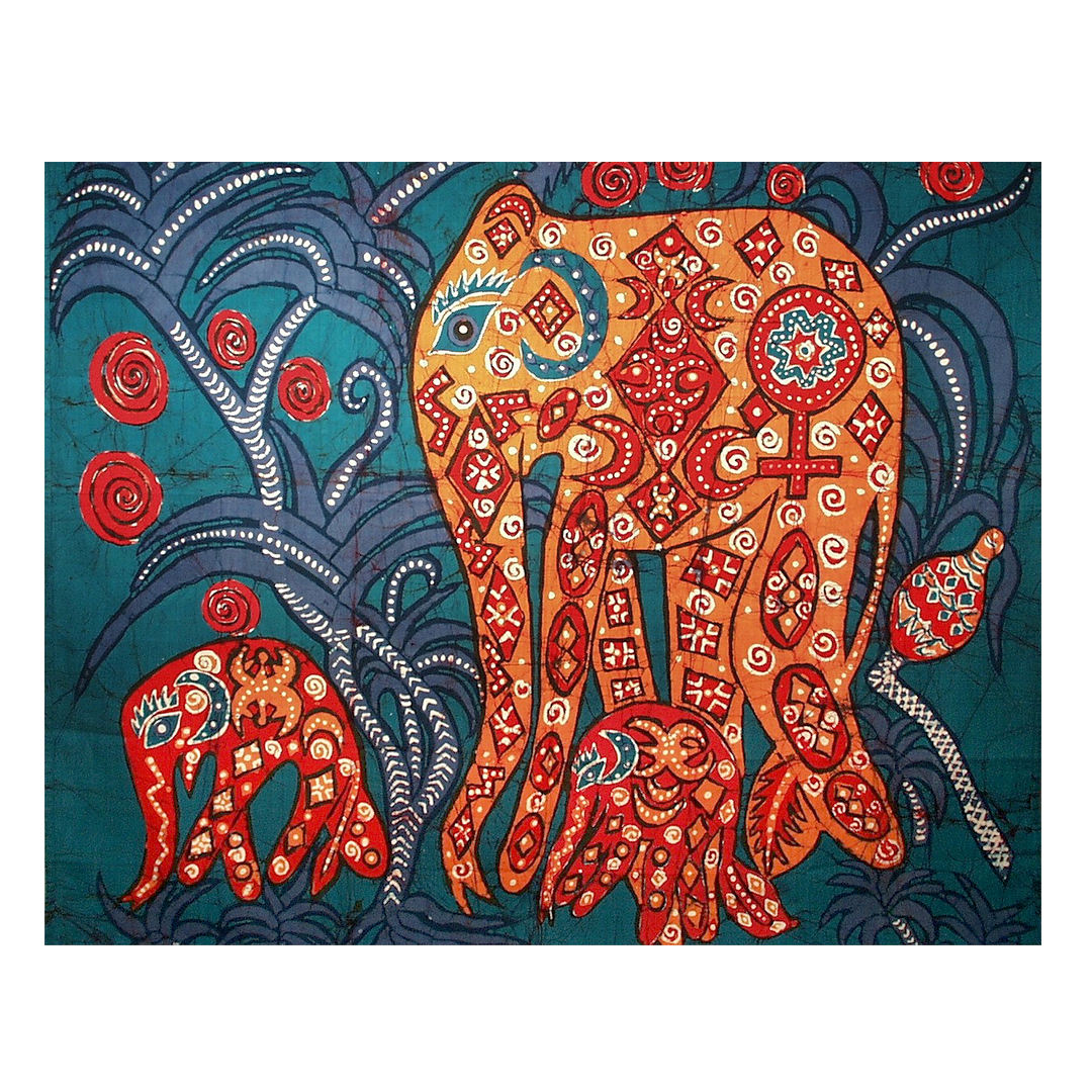 Sri Lankan batik elephants