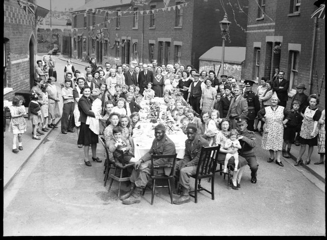 VE Day party at Garnet Street, Reading