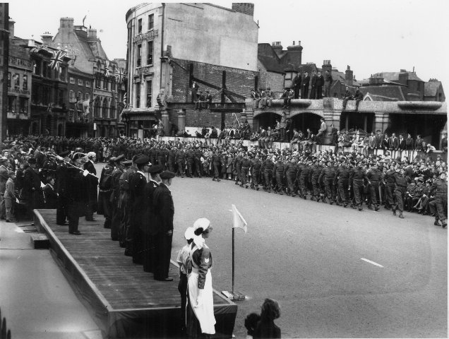 VE Day parade Reading May 1945