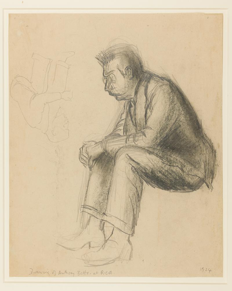 Henry Moore (1898–1986), Anthony Betts at the R.C.A, 1924, Pencil and chalk, 334 × 271 mm, The Henry Moore Foundation, HMF 213. Reproduced by permission of the Henry Moore Foundation. Photo: Nigel Moore