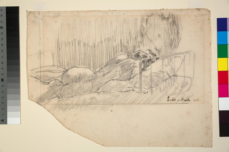 Walter Richard Sickert (1860–1942), The Little Bed, 1902 Pencil and chalk, 238 × 315 mm, University of Reading Art Collection, UAC/10520