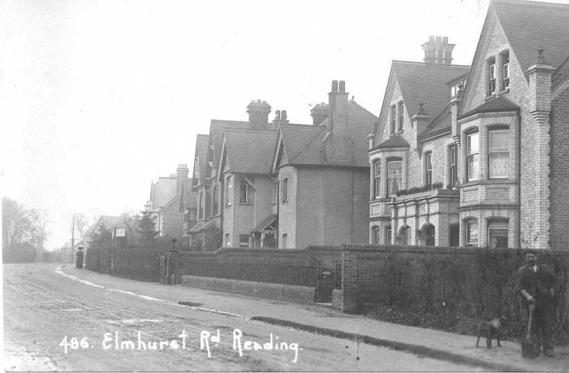 Elmhurst Road in 1910. Clara lived here towards the end of her life. (Reading Library Illustrations Collection)