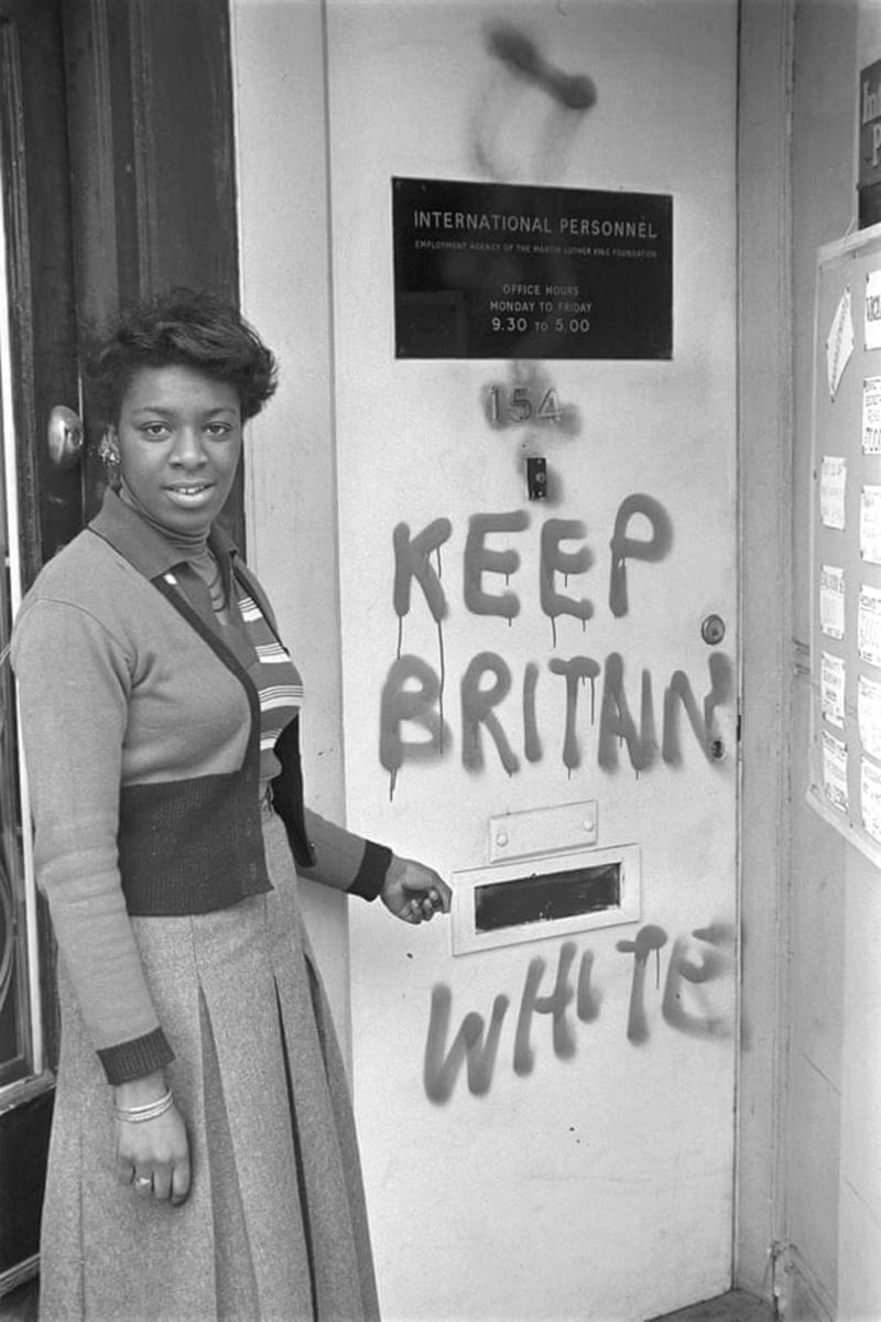 Barbara Grey at a Training centre for black women in 1974 - Photo Courtesy Neil Kenlock