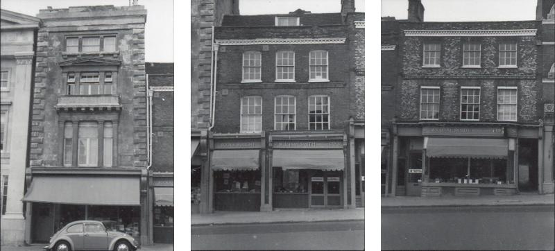 35, 37 and 39 London Street in the 1970s. (c) Reading Borough Council, Reading Library Local Studies Collection