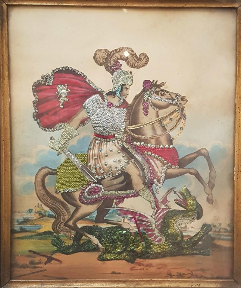 St George and the dragon tinsel print