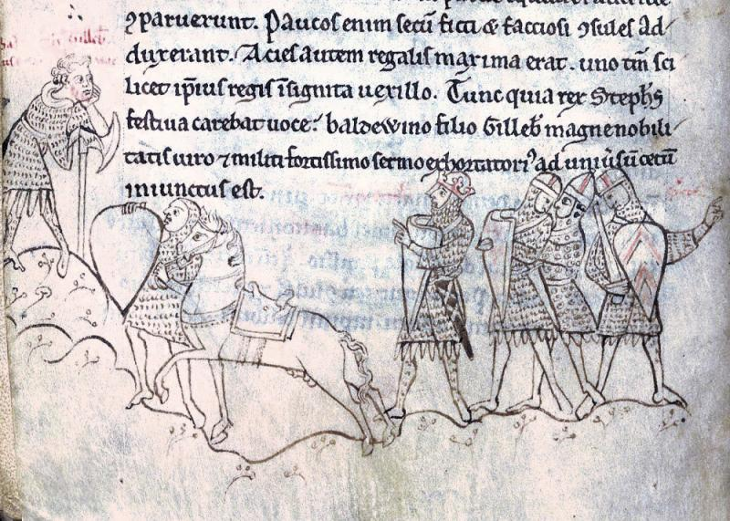 The  Battle of Lincoln, from Henry of Huntingdon's Historia Anglorum