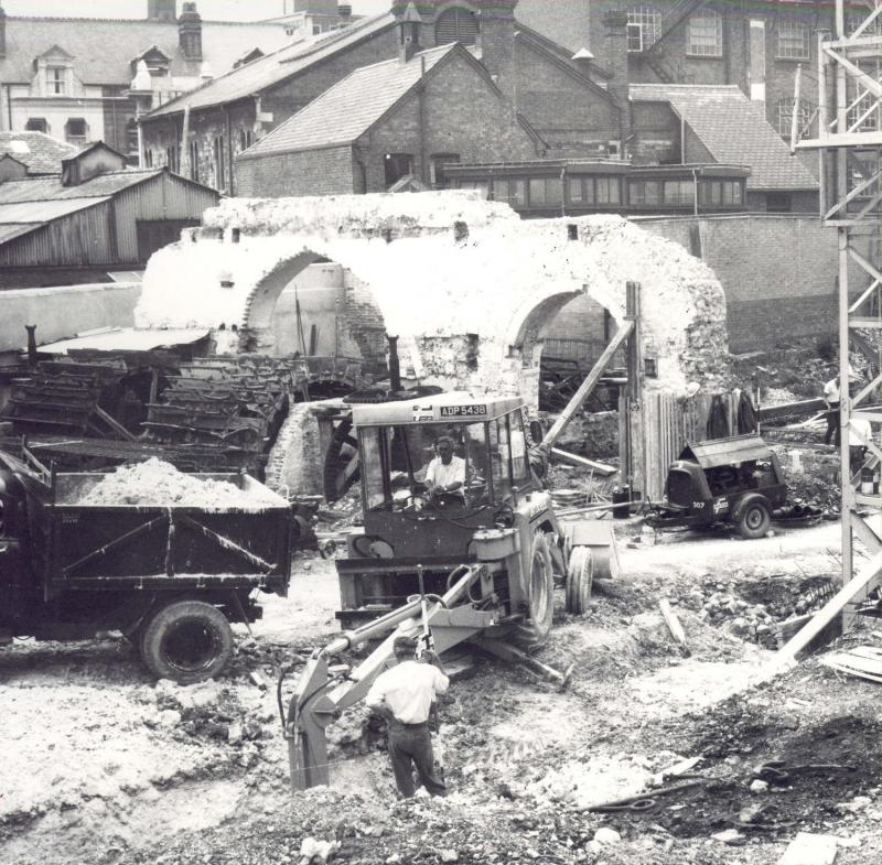demolition of the abbey mill