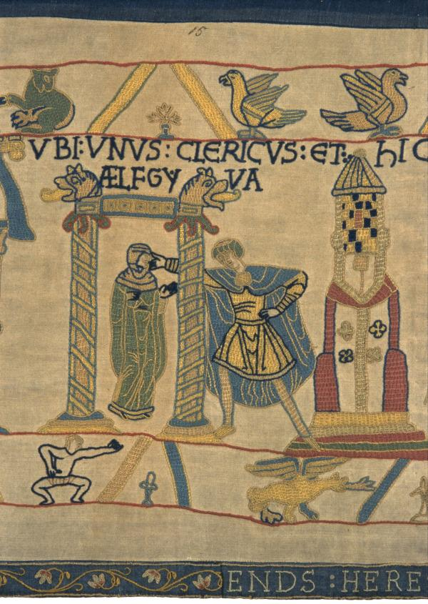 Aelfgyva in our replica Bayeux Tapestry.