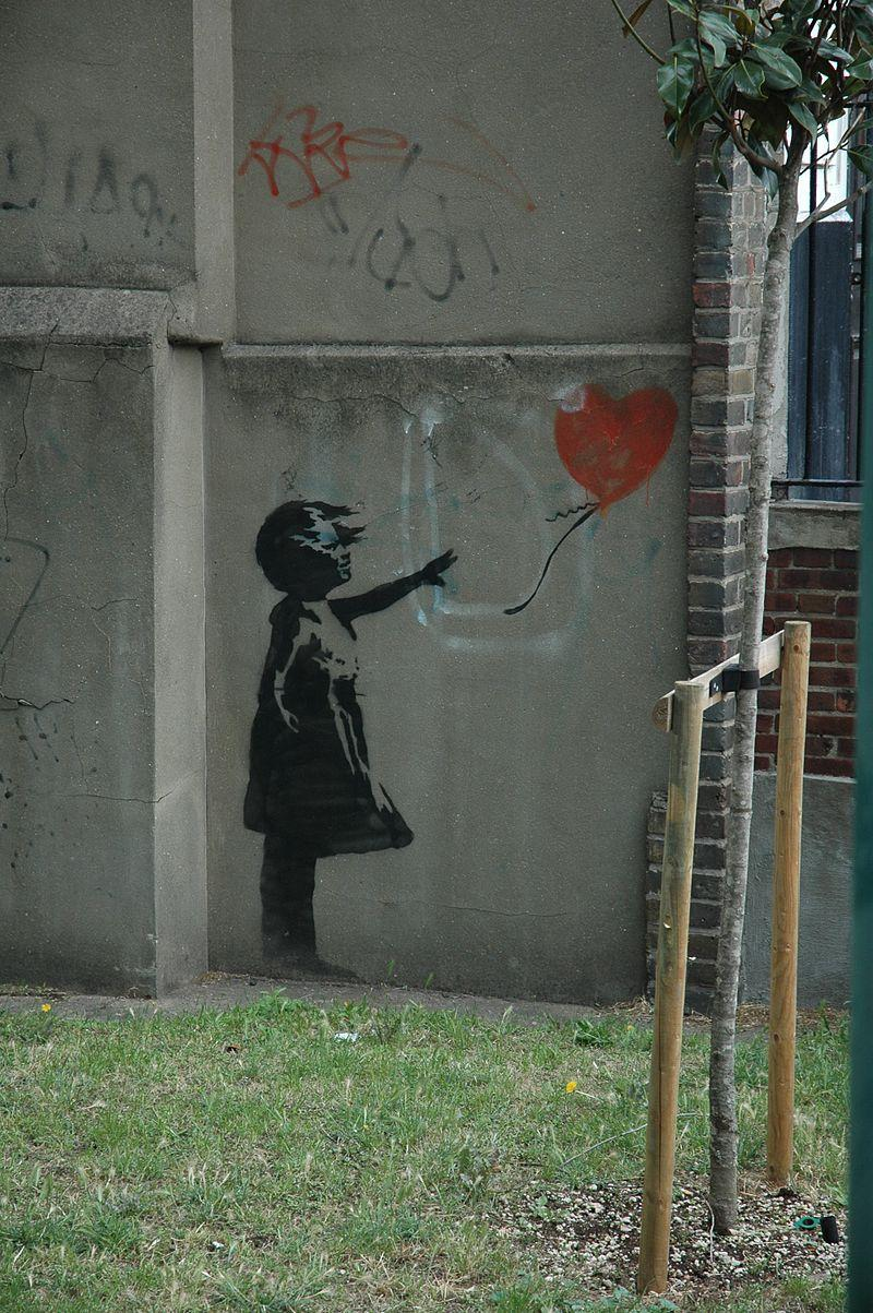 Girl with Balloon, an iconic artwork by Banksy.