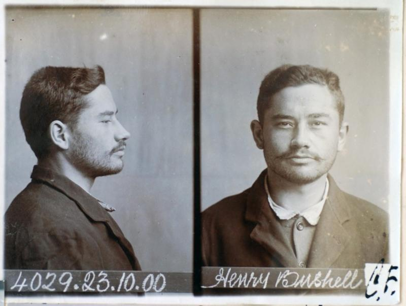 Mugshot of Henry Bushnell