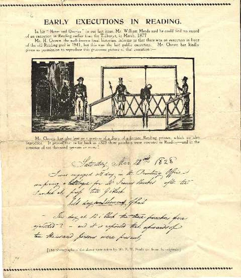Early executions in Reading document