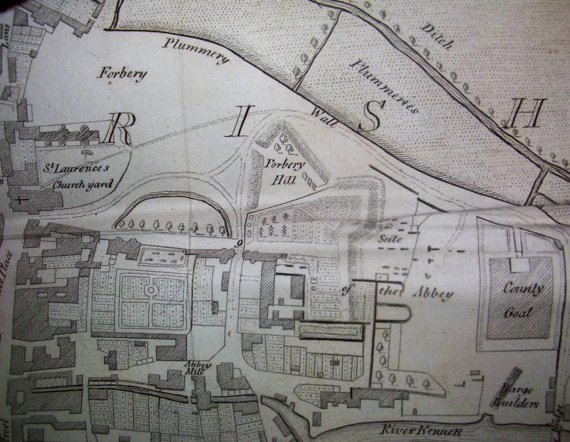 Tomkins map of Reading 1802