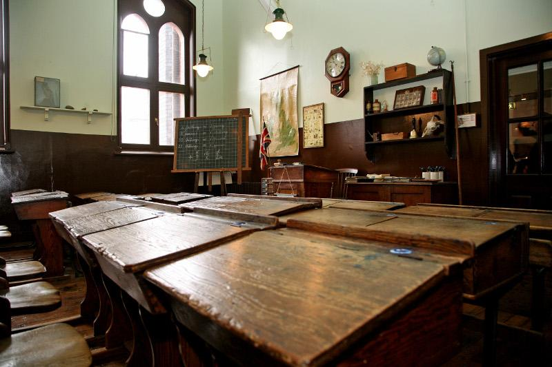 Interior of the Victorian Schoolroom at the Museum