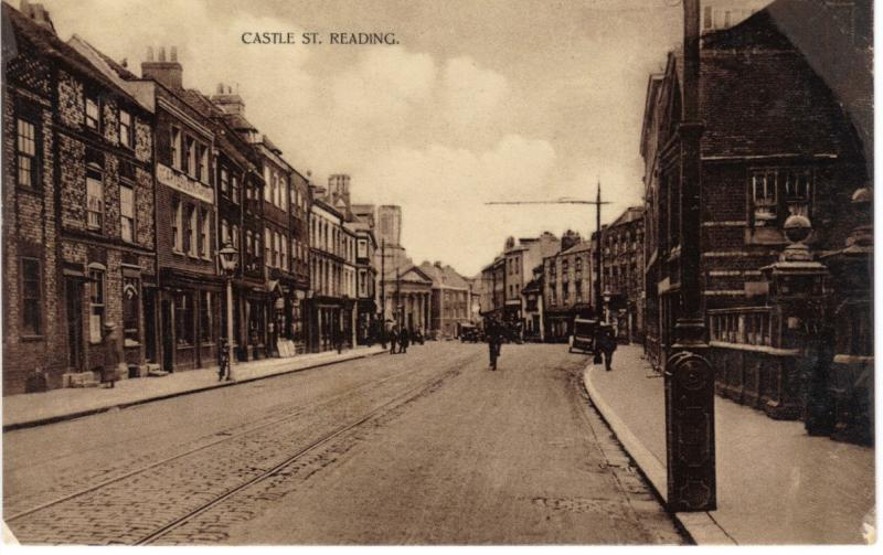 North and south sides of Castle Street c.1900s, taken from just inside the modern day IDR, Vachel Almshouses entrance in foreground on right hand side (Sean Duggan)