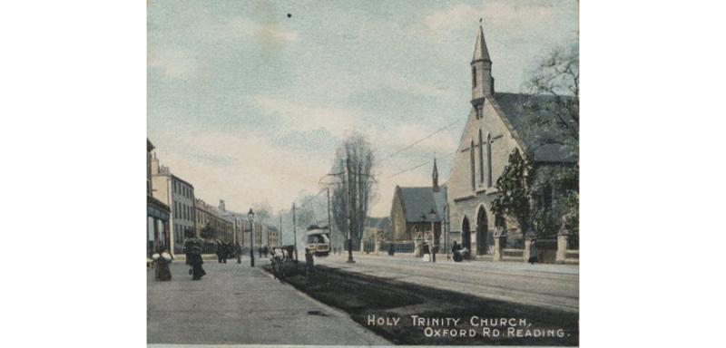 Oxford Road and Holy Trinity church, 1900s