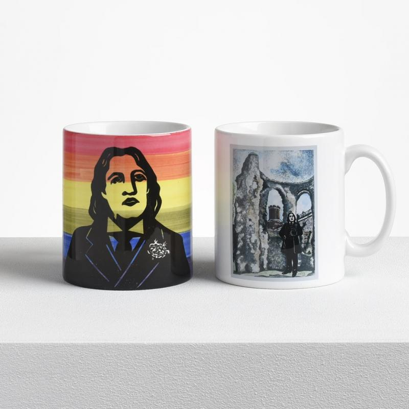 Two mugs from the new Characters of the Reading Abbey Quarter range.