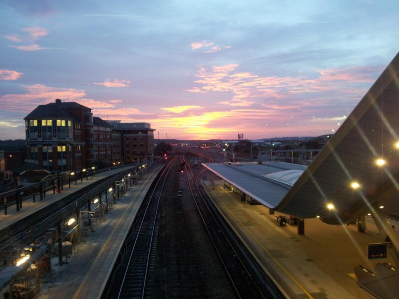 Reading Station sunset