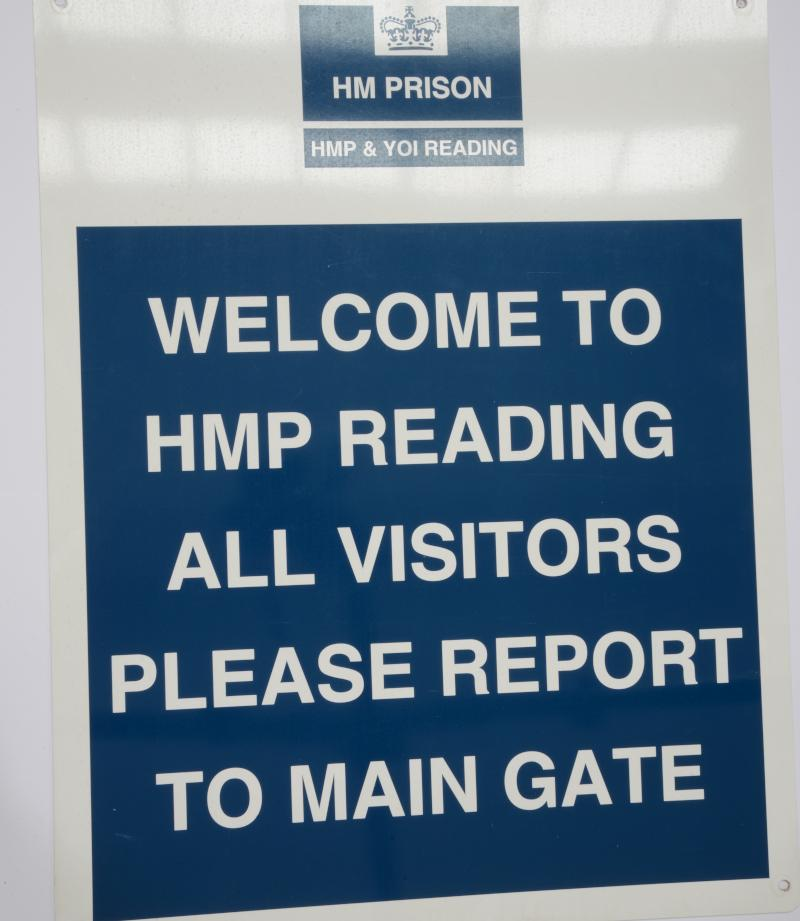 Welcome to HMP Reading sign