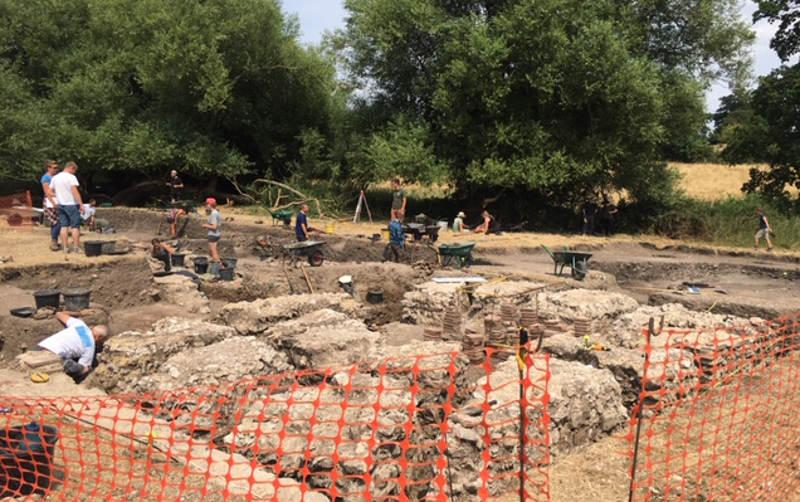 Silchester bathhouse dig in summer 2018