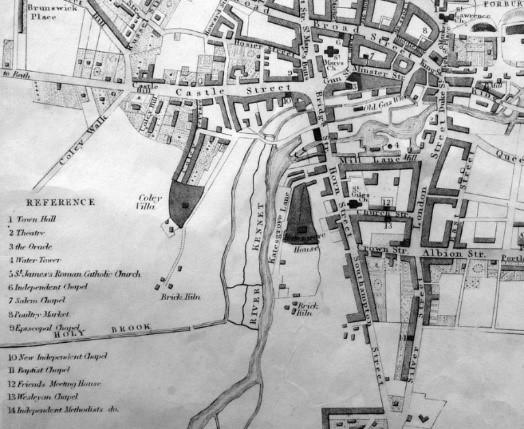Snare's 1840 Map of Reading – (cropped) (BRO via Get Reading)