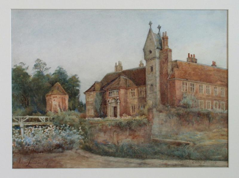Southcote Manor House, Reading watercolour by Edgar Leuchars, 1912
