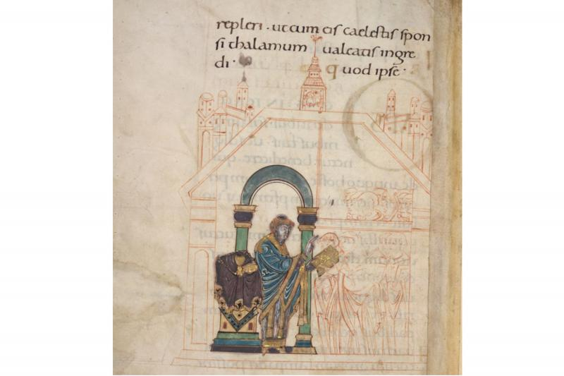 St. Aethelwold and his congregation