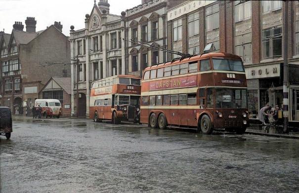 Trolley Buses, St Mary's Butts, Reading (Michael Braisher)