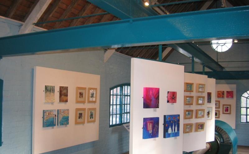 an exhibition inside the Turbine House
