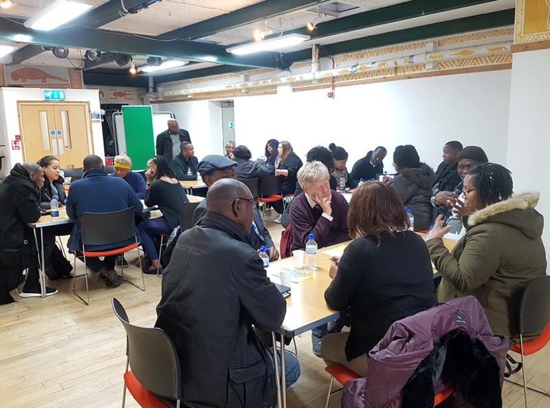 Meeting of Reading's Caribbean community with Project organisers, 2019.