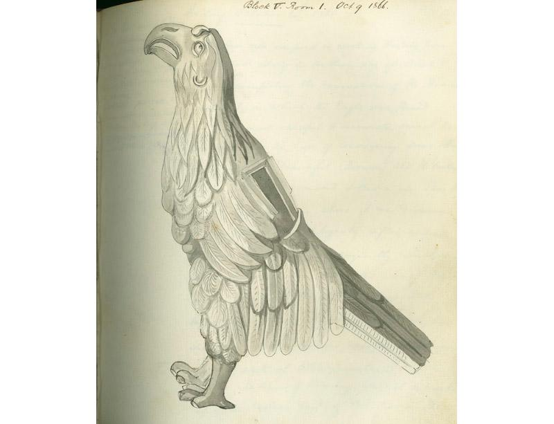 Drawing by Rev Joyce of the Silchester eagle