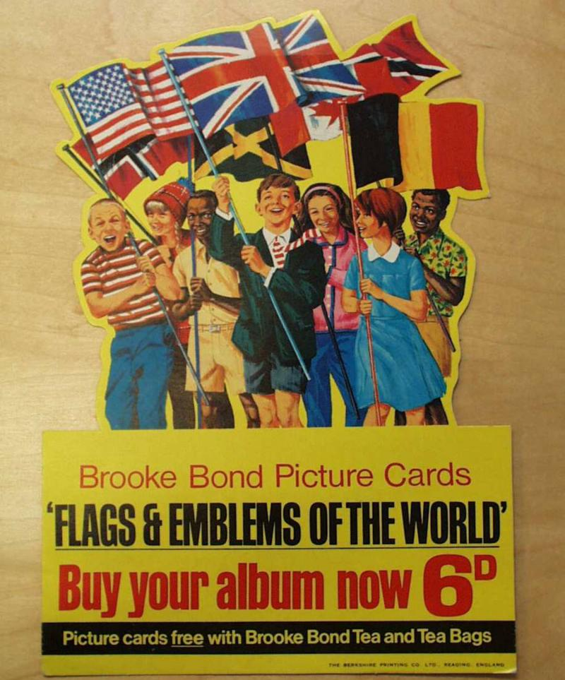 Brooke Bond picture card advert, 'Flags and Emblems of the World' , 1960s