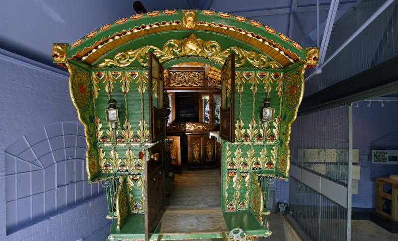 gypsy caravan inside the museum