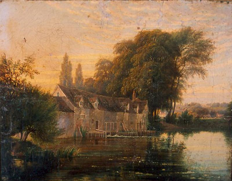 Caversham Mill by Edmund Havell, 1852 (museum no. 1931.66.1)