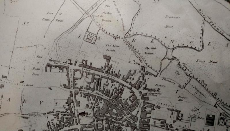 Map of Reading, from Coates' History of Reading 1802