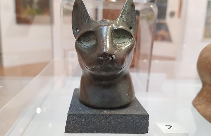 Bronze Egyptian cat