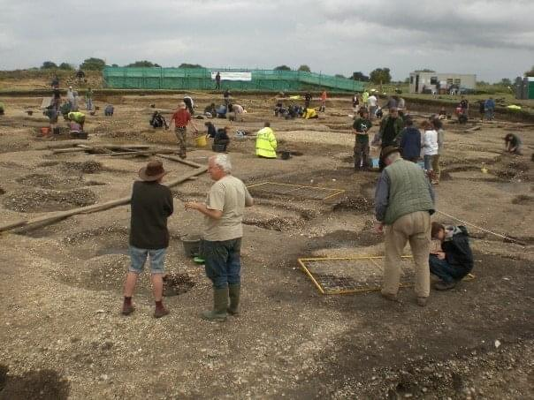A photo of excavations at Silchester in 2008.