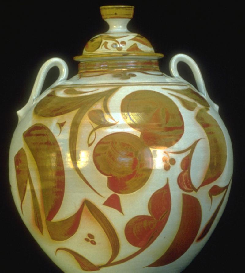 A ginger jar produced by Alan Caiger-Smith.