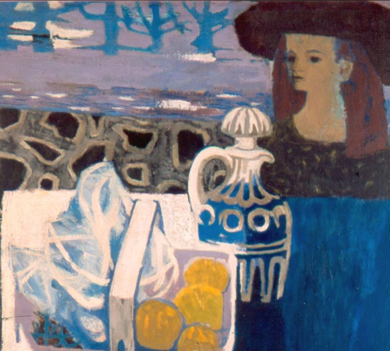 Girl in a Brown Hat, 1959, by Mary Fedden.