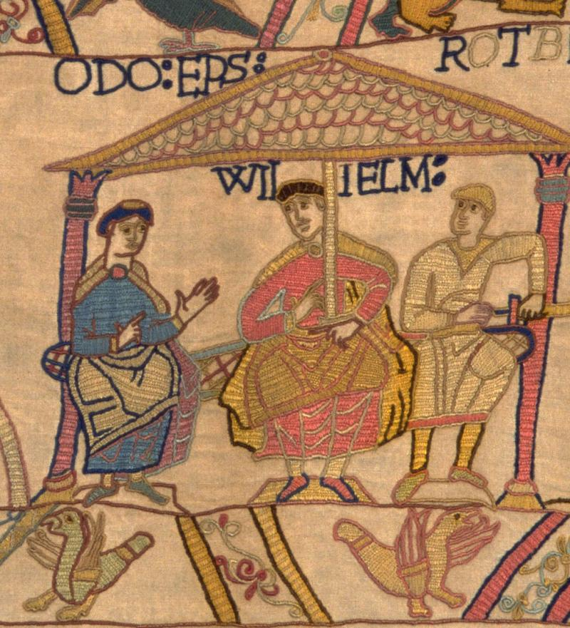 Bishop Odo in the Bayeux Tapestry.