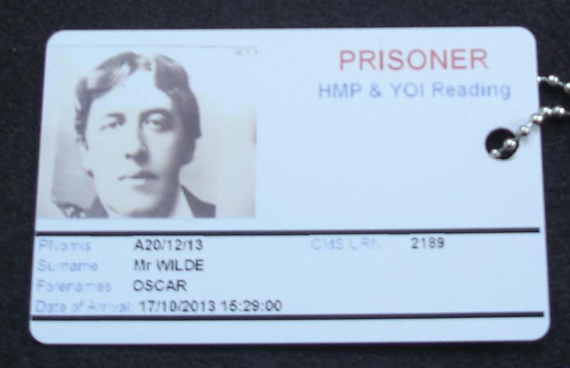 prison issue ID card mocked up for Oscar Wilde