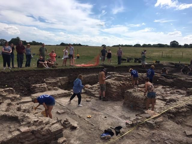 University of Reading Silchester Bath house excavations, 2019 (author's own original photograph)