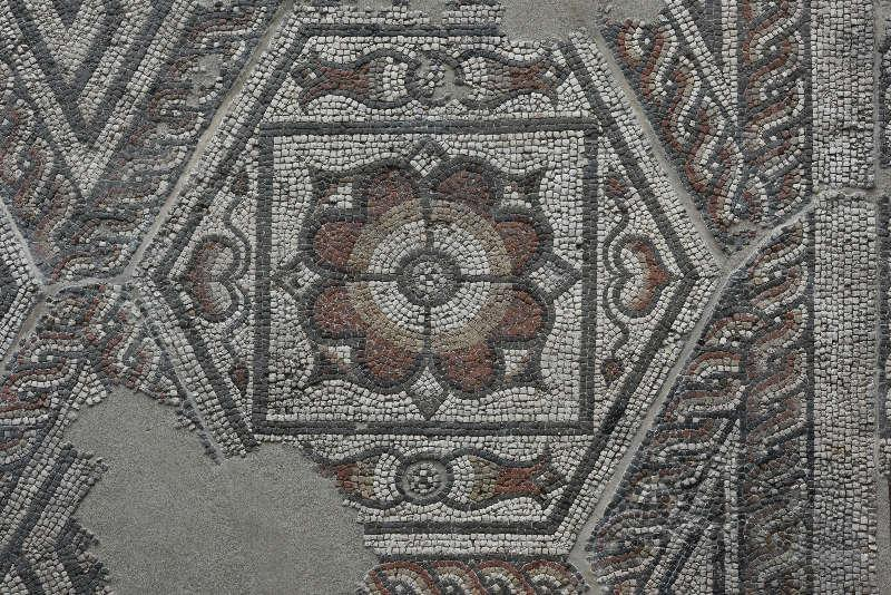 silchester hexagon mosaic detail