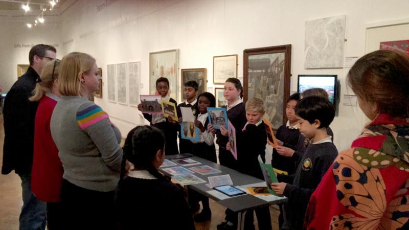 Children giving a talk about Reading Abbey
