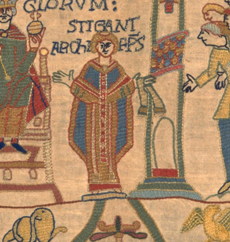 Stigand in our replica Bayeux Tapestry.