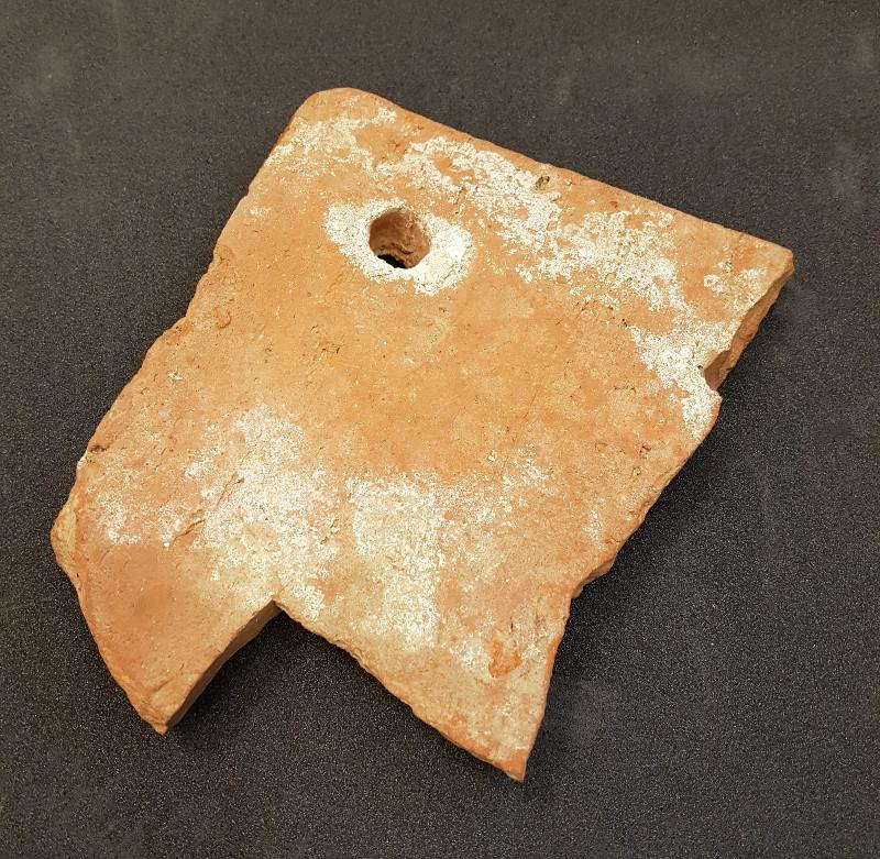 A roof tile from Reading Abbey