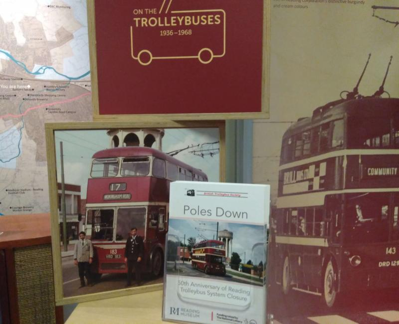 Trolleybus display anniversary booklet