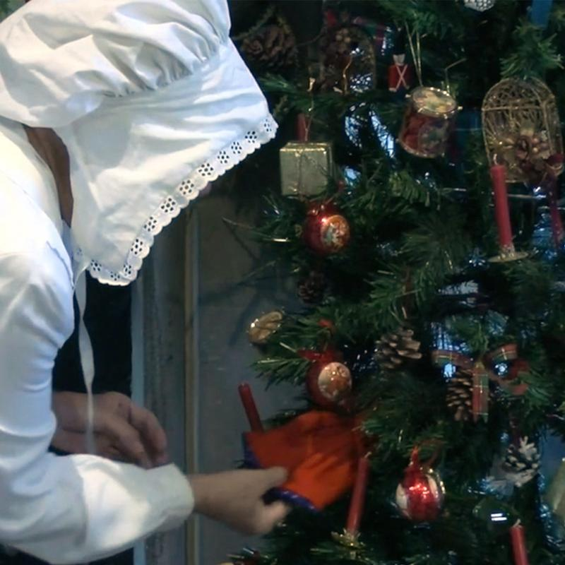 A still from our Victorian Christmas online session.