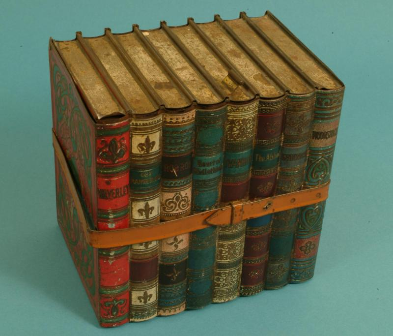 book shaped Waverley Huntley and Palmers tin