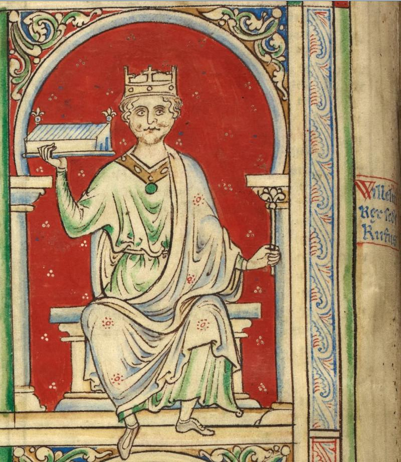 William Rufus holding Westminster Hall in Historia Anglorum.